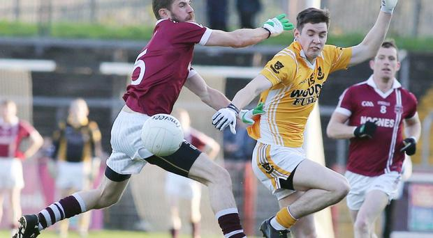 Captain's role: Francis McEldowney (left) is confident that his Slaughtneil side can make it into the All-Ireland play-offs