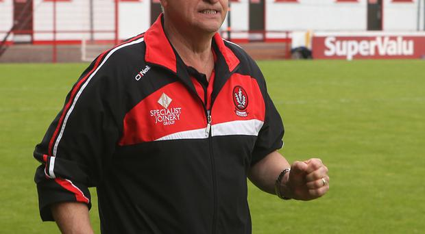 Derry boss Brian McIver