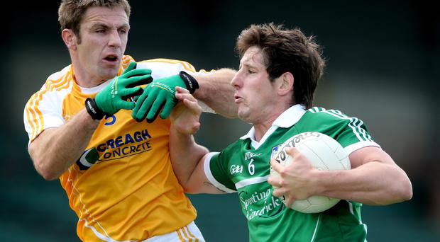 Concern: Antrim's Tony Scullion sees a worrying trend of injuries occuring more frequently in training