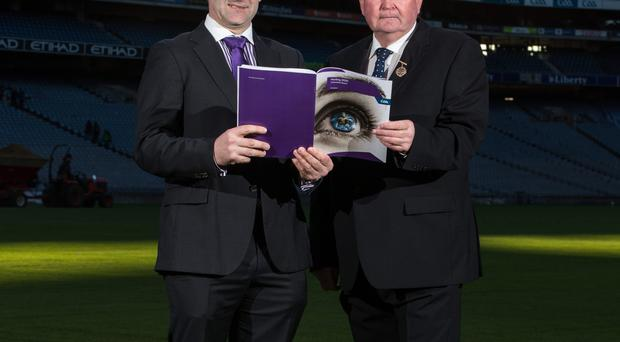 2020 vision: Liam Sheedy and Liam O'Neill with the new hurling committee report