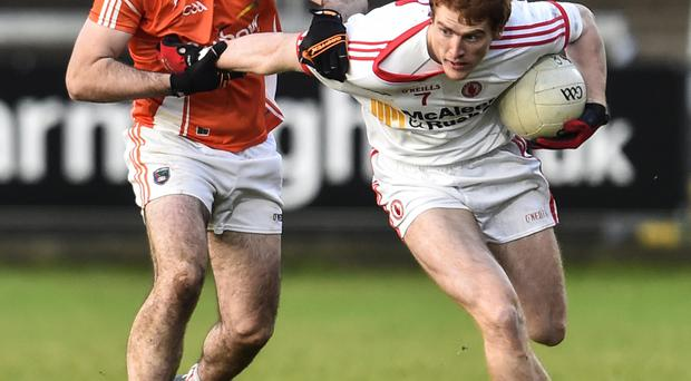 Big chance: Michael McKenna (left) features for Armagh