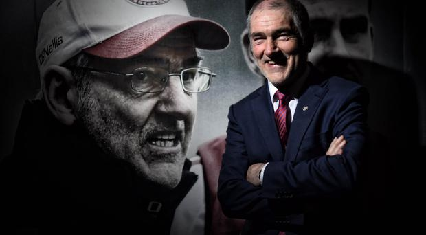 Second look: Mickey Harte at the kit launch at Tyrone's Garvaghey headquarters