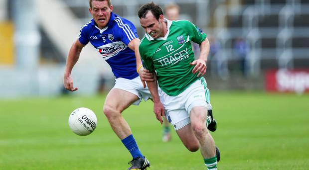 Vital goal: Paul McCusker hit Fermanagh's first