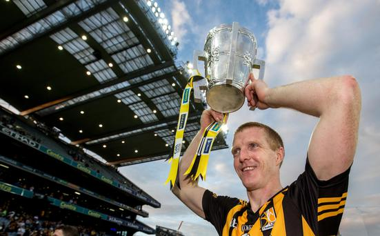 Familiar sight: Henry Shefflin enjoyed a phenomenal 16 years with Kilkenny, winning 10 All-Ireland titles and 13 Leinster championships