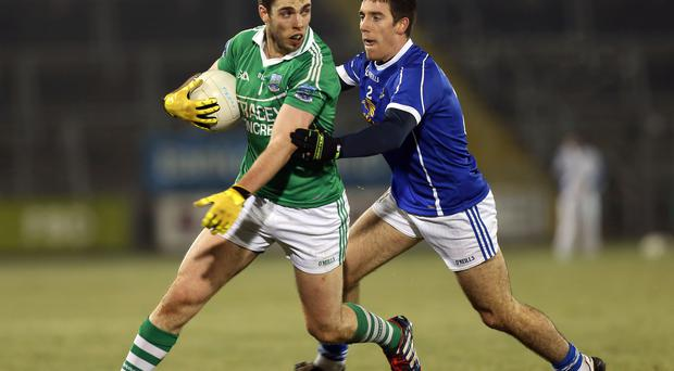 On the ball: Ryan Jones (left) knows a win or draw at Wexford will be the high point so far of his Fermanagh career