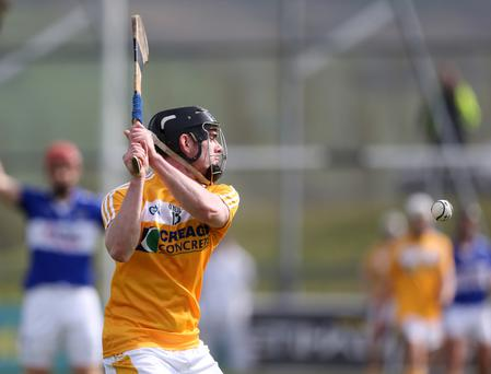 On target: Ciaran Clarke is out to repeat his goalscoring feat when Antrim face Westmeath