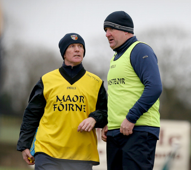 Mature heads: Antrim football manager Frank Fitzsimmons is looking to his side's experience