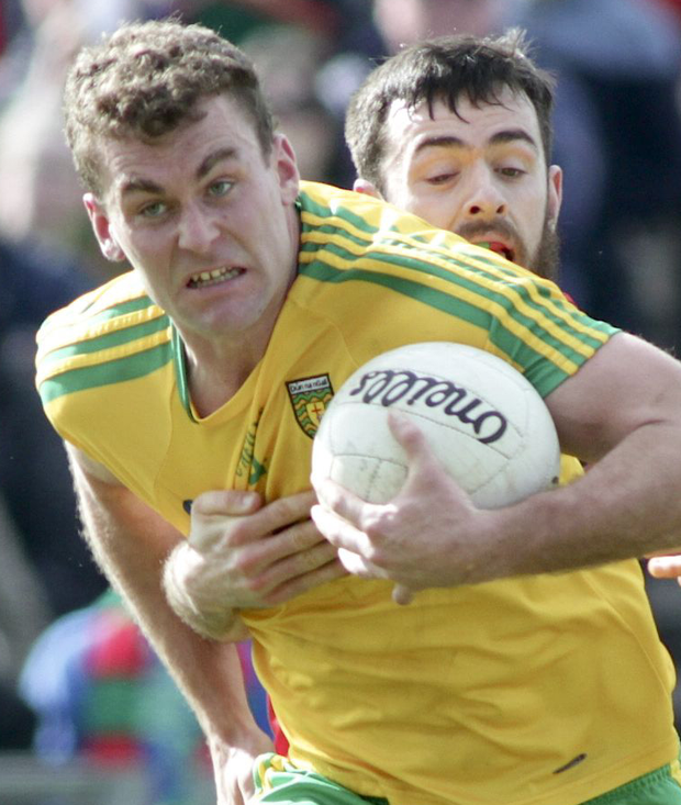Helping hand: Brian McIver kept faith in Eamonn McGee (above) during his stint with Donegal