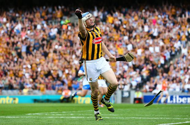 First blood: Kilkenny's TJ Reid hits the opening goal