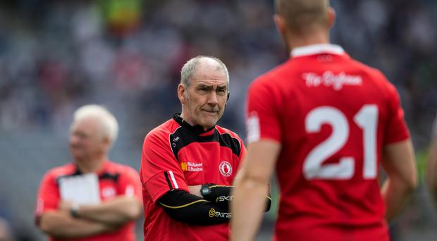 Thinking ahead: Mickey Harte has warned Tyrone they must push on from their latter 2015 form