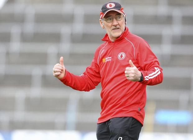 Thumbs up: Mickey Harte is already looking ahead to 2016