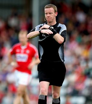Referee Joe McQuillan