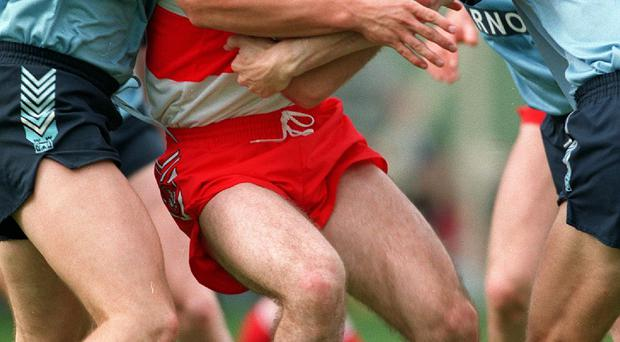 A new leaf: Derry boss Damien Barton, pictured in action in the 1993 All-Ireland semi-final, will have his work cut out to take the Oak Leaf men back to that stage
