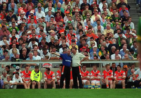 Strife of Brians: The former managers of Armagh, Brian McAlinden and Brian Canavan found life difficult with the Orchard County