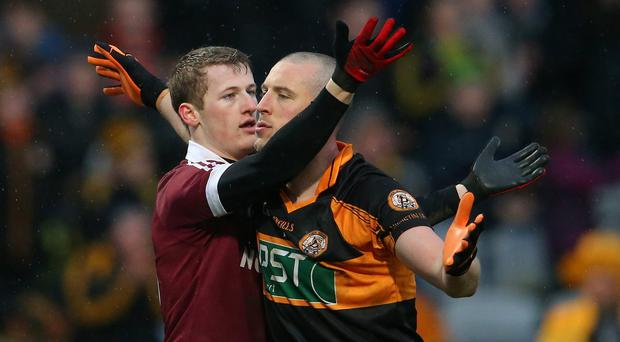 All in hand: Brendan Rogers believes Damian Barton had a great effect on Slaughtneil and will do likewise at Derry