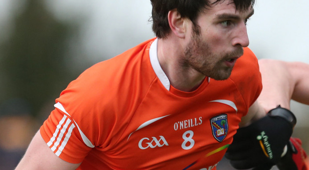 Midfield master: Aaron Findon is hoping to star for Armagh