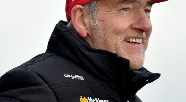 © Presseye.com- Dec 19th 2015, GAA, O'fFach Cup Final, Crossmaglen. Tyrone v Louth. Tyrone manager, Mickey Harte during Sunday's final at Crossmaglen. Photo by TONY HENDRON/Presseye.com.