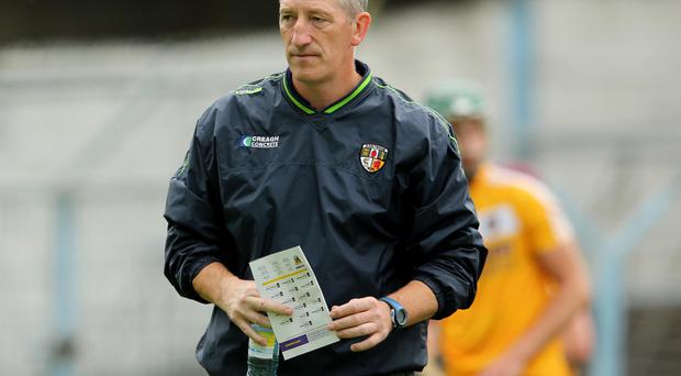Dogged: Tyrone hurling manager Kevin Ryan