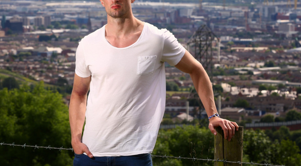 Aiming high: Niall McKeever, pictured overlooking Belfast, has Sigerson Cup success in McKeever his sights with UUJ