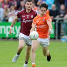 Latest setback: James Morgan of Armagh will miss the rest of the season following surgery on a wrist injury