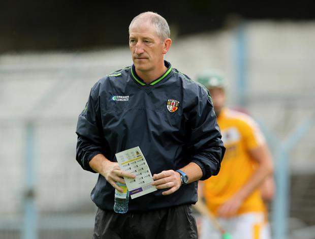 Missed: Tyrone hurling manager Kevin Ryan