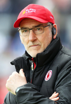 Nothing to fear: Tyrone manager Mickey Harte