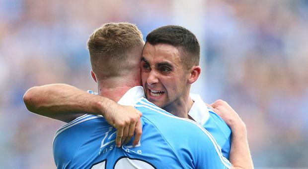 Dublin's Ciaran Kilkenny and James McCarthy celebrate