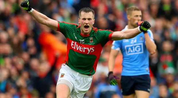 Final blow: Cillian O'Connor celebrates his point deep in added time