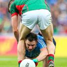 Progress: Philip McMahon finds a way through Diarmuid O'Connor