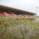 Washout: Healy Park in Omagh was unplayable on Sunday