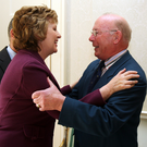 Joe Lennon with President Mary McAleese