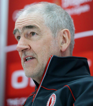 Just short: Mickey Harte feels Tyrone should have beaten Mayo in All-Ireland quarter-final