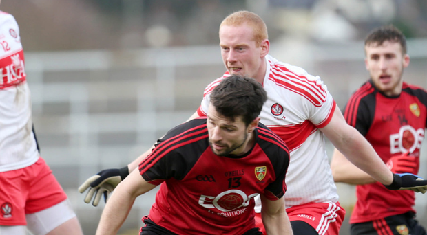 To the fore: Former Irish League star Alan Davidson has been putting his skills to use for Down