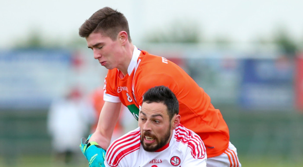 Rising star: Ben Crealey (top) has made a huge impact with Armagh