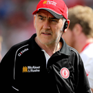 Gearing up: Tyrone boss Mickey Harte took his squad on a training weekend to Carton House