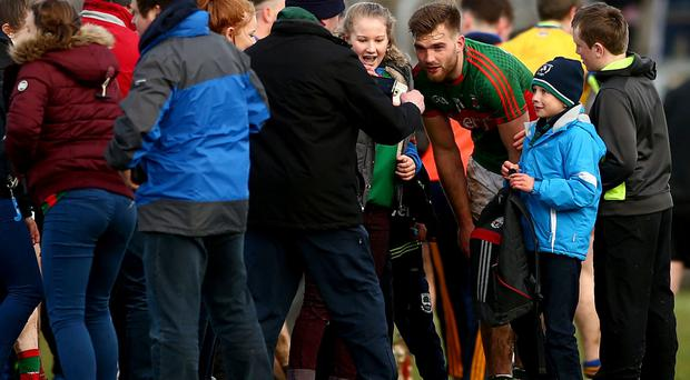 In demand: Aidan O'Shea obliges fans with photos and autographs