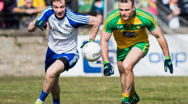 Eye on the ball: Jack McCarron's extra strength could be a decisive factor in tomorrows clash with neighbours Cavan