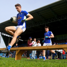 Streaks ahead: Killian Clarke leads out the Cavan team earlier in the season