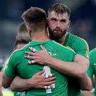 Heartbroken: Ireland's Aidan O'Shea and Eoin Cadogan feel the pain of defeat