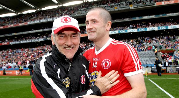 Keeping faith: Mickey Harte and Stephen O'Neill