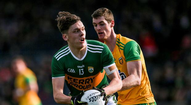 Debutant: David Clifford in action for Kerry yesterday