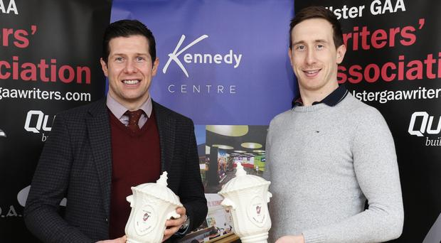 Out in front: Sean and Colm Cavanagh with their Ulster GAA Writers' Association awards