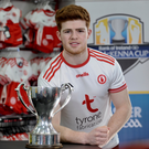 In it to win it: Tyrone ace Cathal McShane with the McKenna Cup