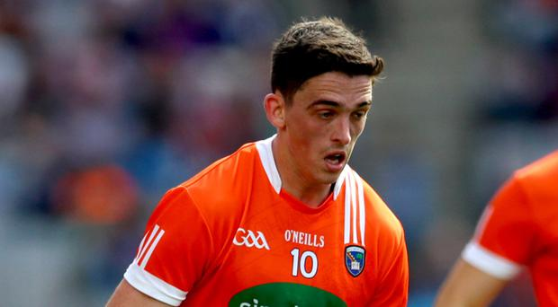 Top man: Armagh's skipper Rory Grugan led by example, scoring 0-6
