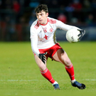 Form player: Tyrone's Lee Brennan is carving himself out a reputation as a major set-piece specialist, with his incredible tally from frees helping his rise to the top of the Division One scoring charts for the current term