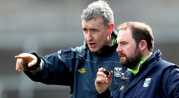 Seasoned campaigner: Cavan manager Mattie McAleenan (left)