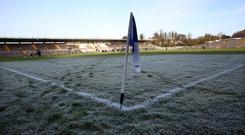 Frozen out: The McKenna Cup kicks off on December 20 and often faces a battle against the elements, a frozen Clones seeing a postponement last January when Donegal were Monaghan's visitors