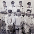 They don't make them like this any more: the seven McGrath brothers who featured on Fermanagh county winning team of St Joseph's, Ederney, 50 years ago (back) Colm, Leonard, Fr Sean, Ciaran and (front) Brendan, Tom and Anthony