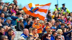 True colours: Fans enjoy the Cavan and Armagh Ulster Championship replay at Clones
