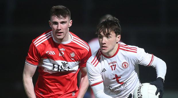 Hot stuff: Tyrone Under-20 ace Darragh Canavan pointed the way during his side's victory over Cavan